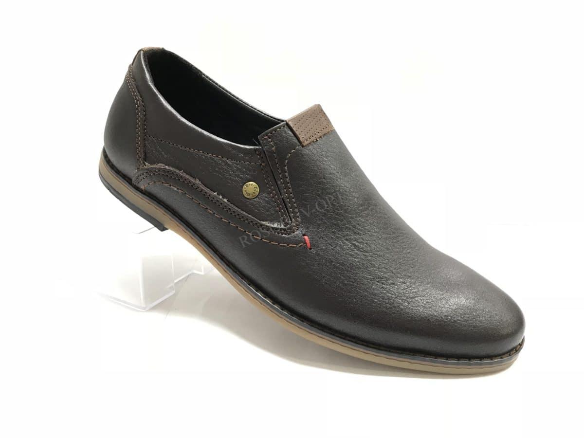Ботинки мужские: 0633 Материал: кожа Цвет: коричневый Коли-во: 8 пар Размеры: 39-44 (повторные 41,42) Цена: 1450