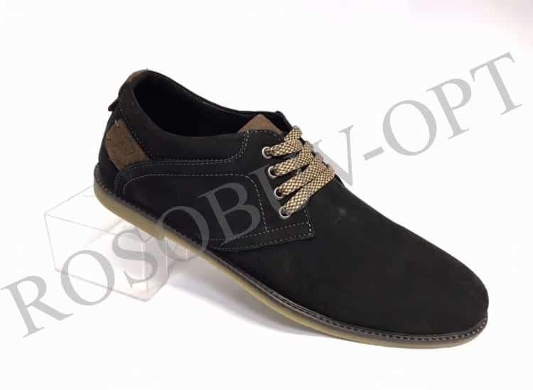 Ботинки мужские: 5811 Материал: кожа (нубук) Цвет: чёрный Коли-во: 8 пар Размеры: 39-44 (повторные 41,42) Цена: 1350