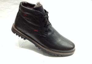 BL - 6898- Ботинки мужские, нат.кожа - нат.мех. цвет чёрный, шнурок и с боку замок, 8 пар размеры с 39-44 (повторные размеры - 41,42) - цена 2400