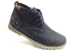 BL - 6899- Ботинки мужские, нат.нубук - нат.мех. цвет синий, шнурок и с боку замок, 8 пар размеры с 39-44 (повторные размеры - 41,42) - цена 2350