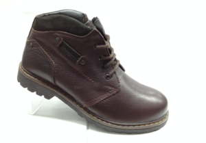 NR - 6915 - Ботинки мужские, нат.кожа - нат.мех. цвет коричневый, шнурок и с боку замок, 8 пар размеры с 40-45 (повторные размеры - 42,43) - цена 2500