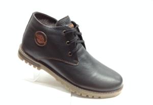 BL - 6918 - Ботинки мужские, нат.кожа - нат.мех. цвет чёрный, без замка, 8 пар размеры с 39-44 (повторные размеры - 41,42) - цена 2350