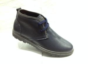 К.К - 6920 - Ботинки мужские, нат.кожа - нат.мех. цвет синий, без замка, 8 пар размеры с 39-44 (повторные размеры - 41,42) - цена 1900