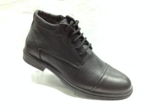 NR - 6927 - Ботинки мужские, нат.кожа - нат.мех. цвет чёрный, с боку замок, 8 пар размеры с 40-45 (повторные размеры - 42,43) - цена 2400