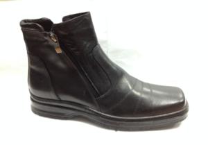 FS - 6935 Ботинки мужские, нат.кожа - нат.мех. цвет чёрный, с боку замок, 8 пар размеры с 39-44 (повторные размеры - 41,42) - цена 1850