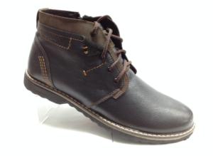 Bad - 6962- Ботинки мужские, нат.кожа - нат.мех. цвет чёрный, с боку замок, 8 пар размеры с 39-44 (повторные размеры - 41,42) - цена 2400
