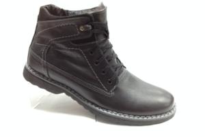 К.К - 6964 Ботинки мужские, нат.кожа - нат.мех. цвет чёрный, без замка, 8 пар размеры с 39-44 (повторные размеры - 41,42) - цена 2100