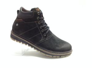NR - 6969 - Ботинки мужские, нат.кожа - нат.мех. цвет чёрный, с боку замок, 8 пар размеры с 40-45 (повторные размеры - 42,43) - цена 2600