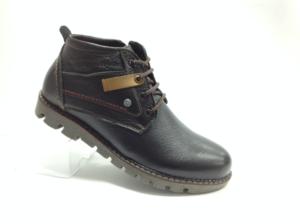 NR - 6971 - Ботинки мужские, нат.кожа - нат.мех. цвет чёрный, с боку замок, 8 пар размеры с 40-45 (повторные размеры - 42,43) - цена 2500