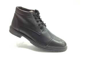 NR - 6972 - Ботинки мужские, нат.кожа - нат.мех. цвет чёрный, с боку замок, 8 пар размеры с 40-45 (повторные размеры - 42,43) - цена 2400