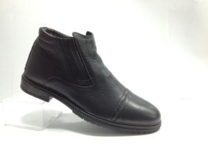 NR - 6974 - Ботинки мужские, нат.кожа - нат.мех. цвет чёрный, с боку замок, 8 пар размеры с 40-45 (повторные размеры - 42,43) - цена 2400