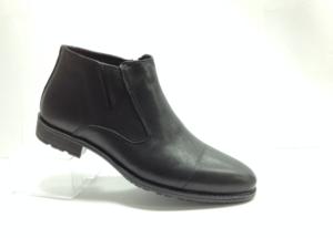 NR - 6975 - Ботинки мужские, нат.кожа - нат.мех. цвет чёрный, с боку замок, 8 пар размеры с 40-45 (повторные размеры - 42,43) - цена 2250