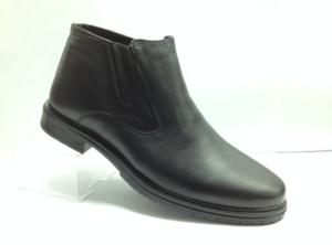NR - 7063 - Ботинки мужские, нат.кожа - нат.мех. цвет чёрный, с боку замок, 8 пар размеры с 39-44 (повторные размеры - 41,42) - цена 2250