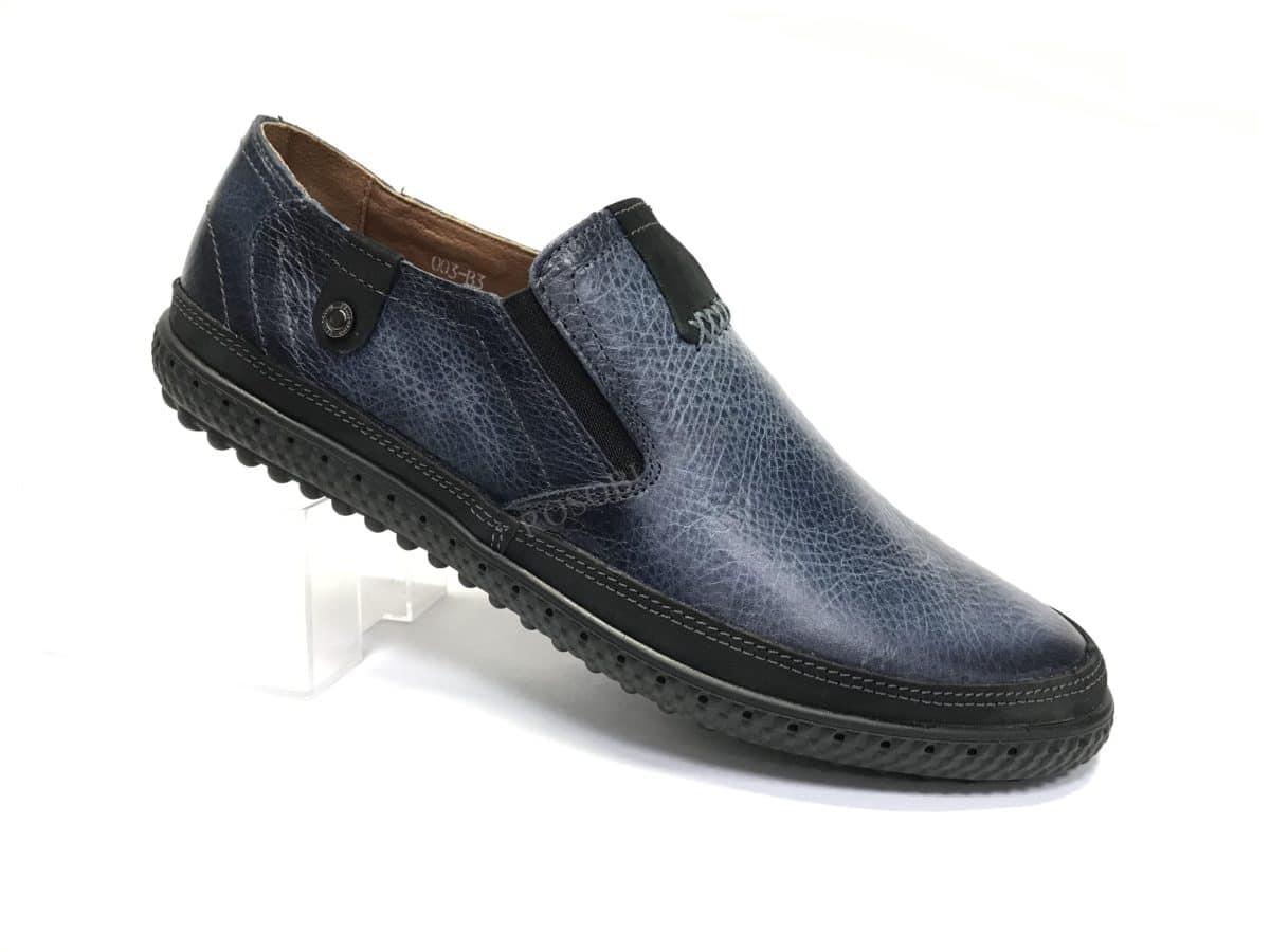 Ботинки мужские: 7093 Материал: кожа Цвет: синий Коли-во: 8 пар Размеры: 39-44 (повторные 41,42) Цена: 1500