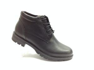 NR - 7109 - Ботинки мужские, нат.кожа - нат.мех. цвет чёрный, с боку замок, 8 пар размеры с 40-45 (повторные размеры - 42,43) - цена 2400