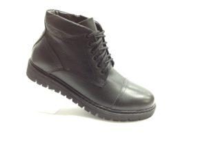 BL - 7113- Ботинки мужские, нат.кожа - нат.мех. цвет чёрный, с боку замок, 8 пар размеры с 40-45 (повторные размеры - 41,42) - цена 2400