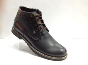 Bad - 7231- Ботинки мужские, нат.кожа - нат.мех. цвет чёрный, с боку замок, 8 пар размеры с 39-44 (повторные размеры - 41,42) - цена 2400