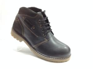 NR - 7240 - Ботинки мужские, нат.кожа - нат.мех. цвет чёрный, с боку замок, 8 пар размеры с 40-45 (повторные размеры - 42,43) - цена 2500
