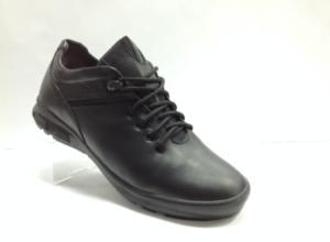 Lot - 7243 Ботинки мужские, нат.кожа - нат.мех. цвет чёрный, без замка, 8 пар размеры с 39-44 (повторные размеры - 41,42) - цена 2200