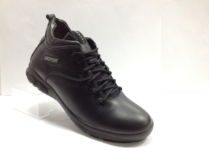 Lot - 7244 Ботинки мужские, нат.кожа - нат.мех. цвет чёрный, без замка, 8 пар размеры с 39-44 (повторные размеры - 41,42) - цена 2200