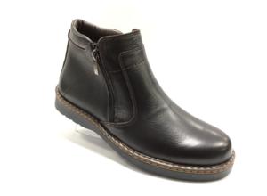 RO -8706 - Ботинки мужские, нат.кожа - нат. мех, цвет коричневый, два замка, 8 пар, размеры с 40 по 45 (повторные размеры - 42,43) - цена 2450 р.