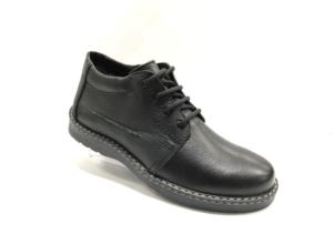 RO -8707 - Ботинки мужские, нат.кожа - нат. мех, цвет чёрный, шнурок-замок, 8 пар, размеры с 40 по 45 (повторные размеры - 42,43) - цена 2400 р.