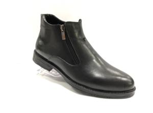 FS -8712 - Ботинки мужские, нат. кожа - нат. мех, цвет чёрный, два замка, 8 пар, размеры с 40 по 45 (повторные размеры - 42,43) - цена 1950 р.