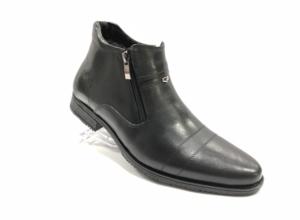 FS -8713 - Ботинки мужские, нат. кожа - нат. мех, цвет чёрный, два замка, 8 пар, размеры с 40 по 45 (повторные размеры - 42,43) - цена 1850 р.