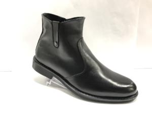 FS -8717 - Ботинки мужские, нат. кожа - нат. мех, цвет чёрный, два замка, 8 пар, размеры с 40 по 45 (повторные размеры - 42,43) - цена 1950 р.