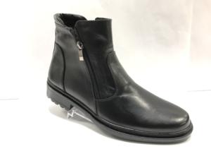 FS -8718 - Ботинки мужские, нат. кожа - нат. мех, цвет чёрный, два замка, 8 пар, размеры с 40 по 45 (повторные размеры - 42,43) - цена 1950 р.