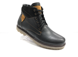 Bol -8725 - Ботинки мужские, нат. кожа - нат. мех, цвет чёрный, шнурок-замок, 8 пар, размеры с 39 по 44 (повторные размеры - 41,42) - цена 2400 р.