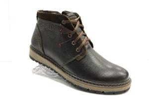 Bad -8736 - Ботинки мужские, нат. кожа - нат. мех, цвет коричневый, шнурок-замок, 8 пар, размеры с 40 по 44 (повторные размеры - 41,42,43 ) - цена 2400 р.