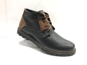Bad -8738 - Ботинки мужские, нат. кожа - нат. мех, цвет чёрный, шнурок-замок, 8 пар, размеры с 40 по 44 (повторные размеры - 41,42,43 ) - цена 2400 р.