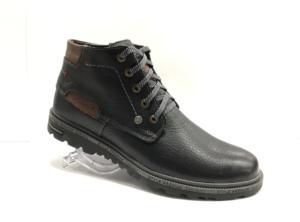 Bad -8740 - Ботинки мужские, нат. кожа - нат. мех, цвет чёрный, шнурок-замок, 8 пар, размеры с 40 по 44 (повторные размеры - 41,42,43 ) - цена 2400 р.
