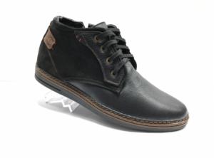 Bad -8742 - Ботинки мужские, нат. кожа - нат. мех, цвет чёрный, шнурок-замок, 8 пар, размеры с 40 по 44 (повторные размеры - 41,42,43 ) - цена 2350 р.