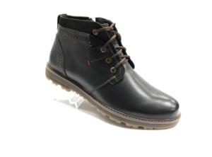Bad -8743 - Ботинки мужские, нат. кожа - нат. мех, цвет чёрный, шнурок-замок, 8 пар, размеры с 40 по 44 (повторные размеры - 41,42,43 ) - цена 2400 р.