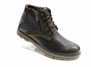 Bad -8744 - Ботинки мужские, нат. кожа - нат. мех, цвет коричневый, шнурок-замок, 8 пар, размеры с 40 по 44 (повторные размеры - 41,42,43 ) - цена 2400 р.