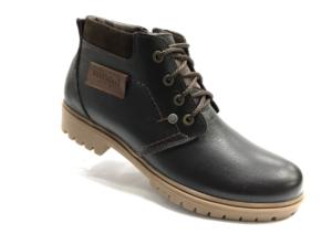 Bad -8745 - Ботинки мужские, нат. кожа - нат. мех, цвет коричневый, шнурок-замок, 8 пар, размеры с 40 по 44 (повторные размеры - 41,42,43 ) - цена 2400 р.