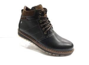 Ro -8748 - Ботинки мужские, нат. кожа - нат. мех, цвет чёрный, шнурок-замок, 8 пар, размеры с 40 по 45 (повторные размеры - 42,43 ) - цена 2500 р.
