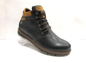 Ro -8751 - Ботинки мужские, нат. кожа - нат. мех, цвет чёрный, шнурок-замок, 8 пар, размеры с 40 по 45 (повторные размеры - 42,43 ) - цена 2500 р.