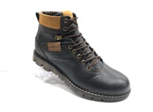 Ro -8752 - Ботинки мужские, нат. кожа - нат. мех, цвет чёрный, шнурок-замок, 8 пар, размеры с 40 по 45 (повторные размеры - 42,43 ) - цена 2500 р.