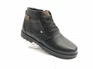 MG - 8818 - Ботинки мужские (подростковые) , нат. кожа - нат. мех, цвет чёрный, шнурок-замок, 8 пар, размеры с 36 по 40 (повторные размеры - 37,38,39 ) - цена 2100 р.