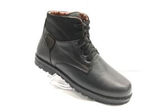 MG - 8819 - Ботинки мужские (подростковые) , нат. кожа - нат. мех, цвет чёрный, шнурок-замок, 8 пар, размеры с 36 по 40 (повторные размеры - 37,38,39 ) - цена 2100 р.