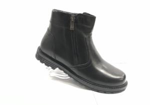 MG - 8820 - Ботинки мужские (подростковые) , нат. кожа - нат. мех, цвет чёрный, два замка, 8 пар, размеры с 36 по 40 (повторные размеры - 37,38,39 ) - цена 1800 р.