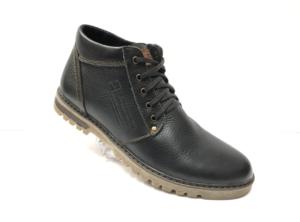 Ec -8822 - Ботинки мужские, нат. кожа - нат. мех, цвет чёрный, шнурок-замок, 8 пар, размеры с 39 по 44 (повторные размеры - 41,42) - цена 2300 р.