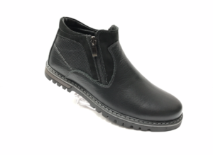 Ec -8823 - Ботинки мужские, нат. кожа - нат. мех, цвет чёрный, два замка, 8 пар, размеры с 39 по 44 (повторные размеры - 41,42) - цена 2400 р.