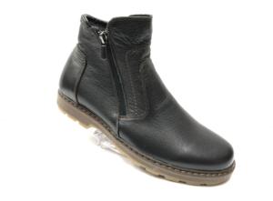 Ec -8824 - Ботинки мужские, нат. кожа - нат. мех, цвет чёрный, два замка, 8 пар, размеры с 39 по 44 (повторные размеры - 41,42) - цена 2500 р.