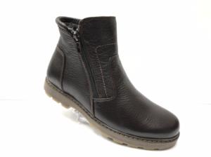 Ec -8825 - Ботинки мужские, нат. кожа - нат. мех, цвет коричневый, два замка, 8 пар, размеры с 39 по 44 (повторные размеры - 41,42) - цена 2500 р.