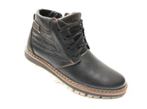 Ec -8826 - Ботинки мужские, нат. кожа - нат. мех, цвет чёрный, шнурок - замок, 8 пар, размеры с 40 по 45 (повторные размеры - 42, 43) - цена 2500 р.