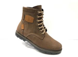 Ec -8827 - Ботинки мужские, нат. нубук - нат. мех, цвет корич., шнурок - замок, 8 пар, размеры с 40 по 45 (повторные размеры - 42, 43) - цена 2600 р.